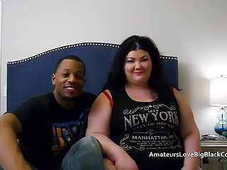 Chunky BBW pounded wits two fat black cocks