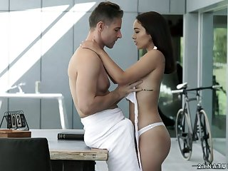 Lovely Spanish babe Ginebra Bellucci gets her anus finger fucked and rammed