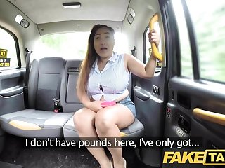 Fake Taxi Thai masseuse with big tits works their way first-rate
