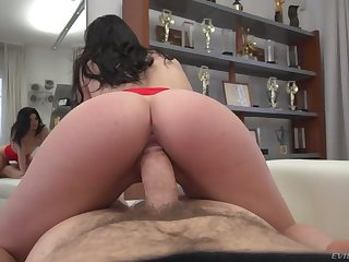 Surprising Hungarian nympho Emily Brix rides strong cock of lewd Rocco