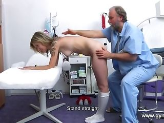 Elderly physician Engages Detailed despotic figure And fuckbox Medical check-up best sexual connection