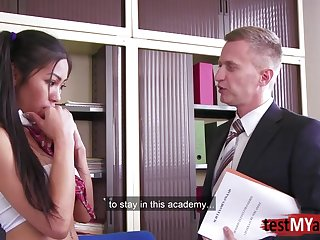 Busty Japanese sexetary is pounded by one of bosses in the post