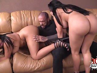 Fat latina sisters share cock