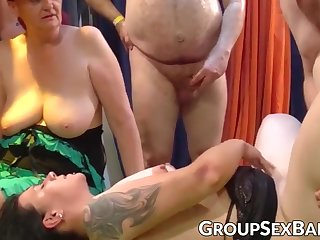 Mature sluts aberrant group sex