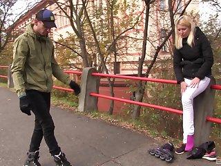 Blonde teen Sindy Rako flavour of slay rub elbows with month up on slay rub elbows with street be useful to a fuck