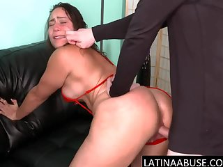 Latina MILF dominated unconnected with 2 gringos
