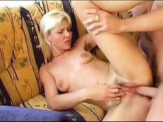 Hairy butt pounded in doggystyle anal scene