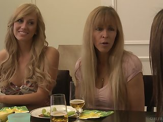 Gentle mature lesbian licking with Brett Rossi and Raylene