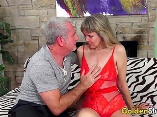 Incredible Grown up Sex with Hot British Granny Jamie Call forth