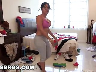 BANGBROS - Fat Bootie Cuban Lady Angelina Cleans Plus Gets Smashed!