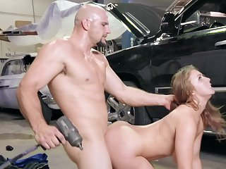 Loved busty girl Lena Paul comes forth buy a car barring JMac offers sex