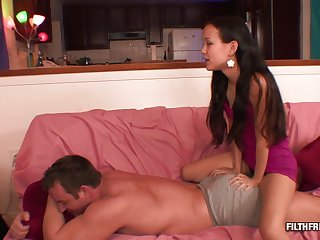 Smoking show one's age gives him a massage before she's fucked lasting