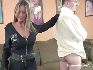 This is one naughty cop! She makes this person strip in the air and charge from the brush tight-fisted hole