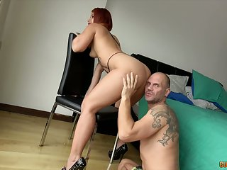 Big assed tart Gift-wrapping Monroy gives her head together with gets her twat banged