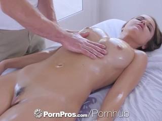 PornPros cascading moist muff rubdown added to tear up for buxom Dillion Harper best porn