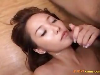 Fur Covered Crevasse Korean Honey Providing Her Viscous Fuckbox To Beau