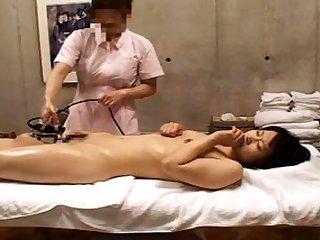 Sexy milf all round nurse uniform stretching her hairy pussy
