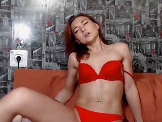 Brunette Coddle Performs Captivating Striptease