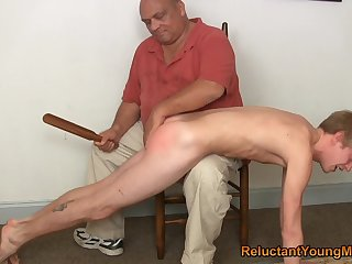 Twink gets spanked and aggravation fucked by his step dad