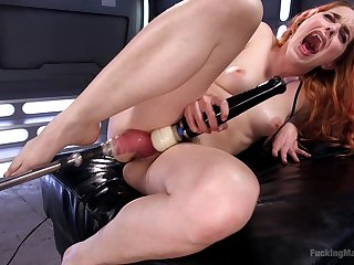 Amarna Miller craves be useful to two sex toys deep dominant their way wet holes