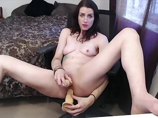 Hot and Horny tattooed chick plays back her toys and cums be useful to her DADDY!