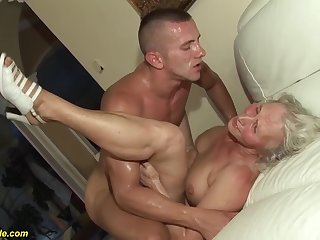 horny 76 years old granny gives a wikd tit fuck and original deepthroat for her young toyboy