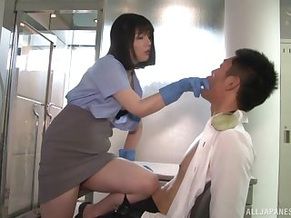 Lovely Japanese makes her friend cum with a blowjob take pleasure in no three before