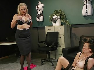 Premium matures in scenes of rough femdom at the post