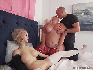 Tiffany Star 3Some Orgy with Sex Doll