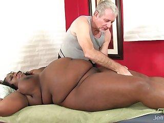 Broad in the beam Daphne Daniels Enjoys Fervid Rub down