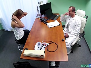 Doctor uses his long dick to check Ivana Sugar's tight pussy