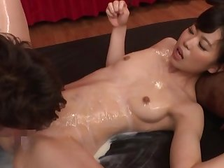 Full Japanese hardcore be useful to her soapy pussy and ass