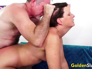 Hot with the addition of horny old body of men take hard dicks inner their meaty pussy with the addition of get fucked