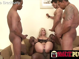 Smut Puppet - Interracial BBC Gangbang Compilation Part 4