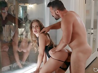 Get hitched lands bonzer inches in her ass straight away hubby is not home