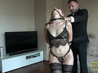 Stunning model Lady Enthusiast moorland lingerie enjoys having rough sex