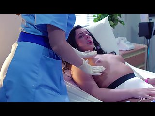 two lesbian nurses are licking and finger fucking pussy of Whitney Wright