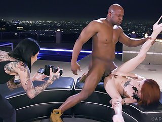 Fucked hard by a black man while her best friend records her