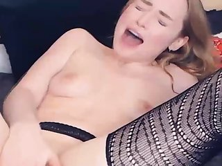 Russian Model Toys her Holes and goes Well provided for
