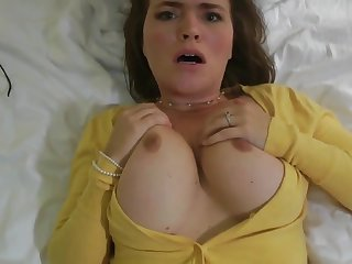 Girlfriend Cheating - busty brunette Krissy lynn almost POV homemade hardcore