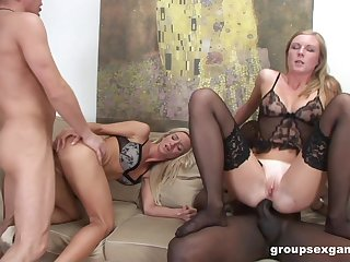 Sexual perfection be fitting of a hot blonde and their way stepdaughter down scenes of anal foursome