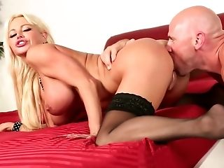Ultra-kinky eminence Nikita Von James in crazy hefty udders, fetish orgy clamp